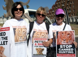 Ban canned lion hunting supporters 6