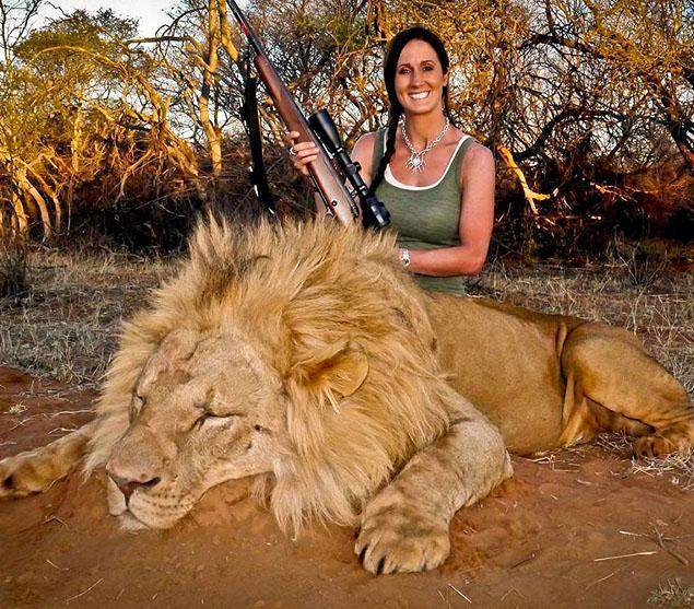 "Melissa Bachman, who sparked a worldwide outrage in November 2013, when she shot this lion in South Africa and tweeted ""An incredible day hunting in South Africa! Stalked inside 60-yards on this beautiful male lion…what a hunt""."