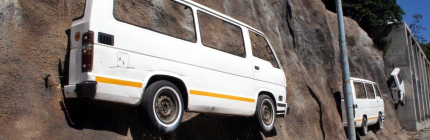 PE Real City tour - infamous minibus taxis