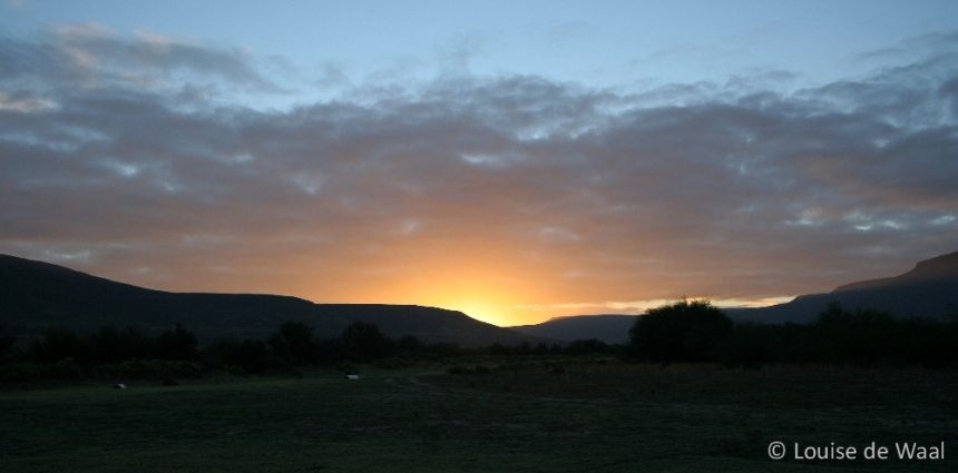 Sunset over Biedouw Valley