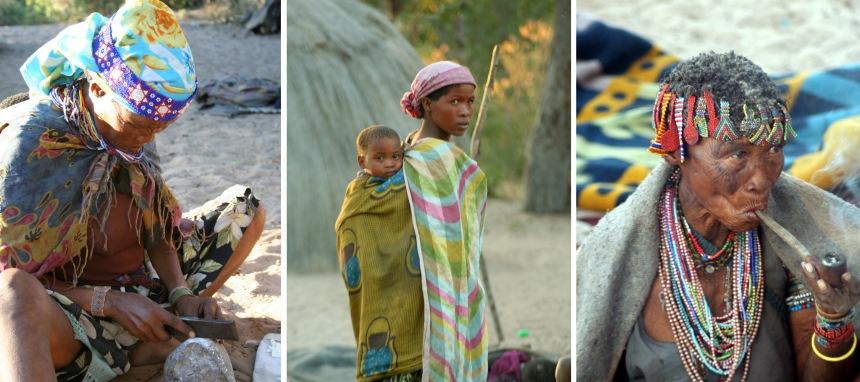 Nhoma Safari Camp Woman with child smoking pipe