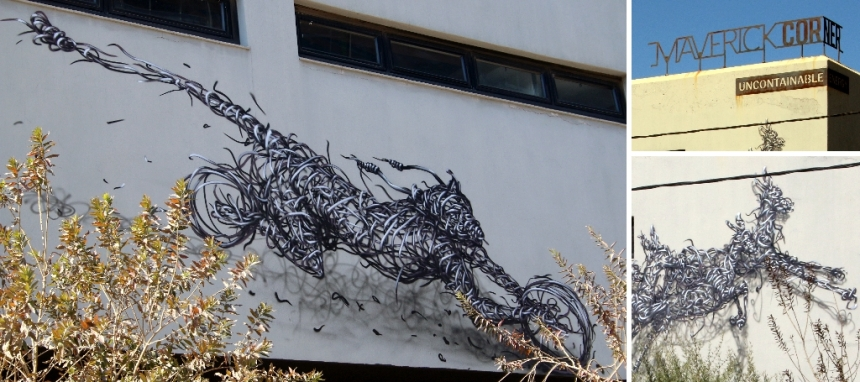 Dal EAST wire animals on Maverick Corner in Maboneng