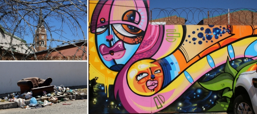 Street art improving aesthetics of urban areas Maboneng