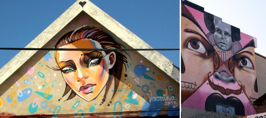 Veronika & Falko murals in Maboneng