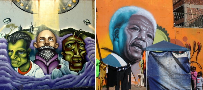 Ode to Madiba By Rasty and street art in Troyeville