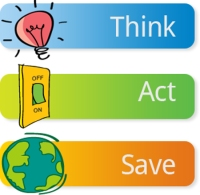 Energy saving Think - Act - Save