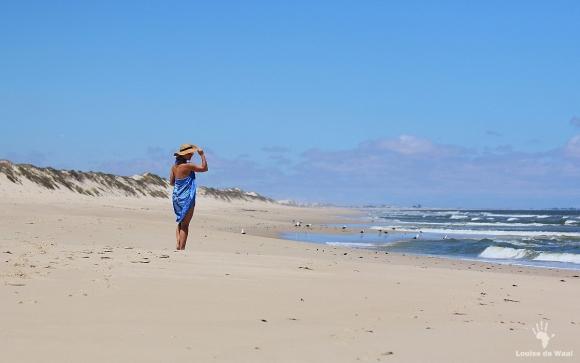 Miles of white sandy beach Rocherpan