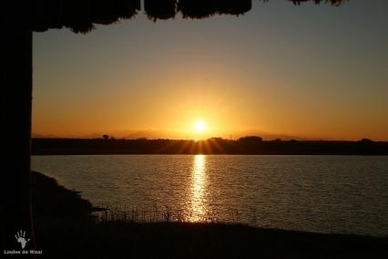 Sunrise from the bird hide at Rocherpan