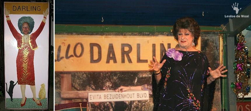Tannie Evita Bezuidenhout at Evita se Perron, Darling