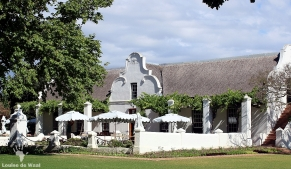 Historic homestead Vergenoegd Wine Estate