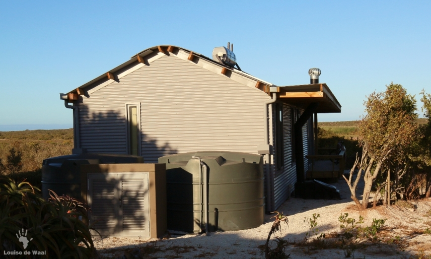 Water harvesting system Rocherpan eco-cabin