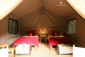 Safari style tent interior Gamkaberg CapeNature