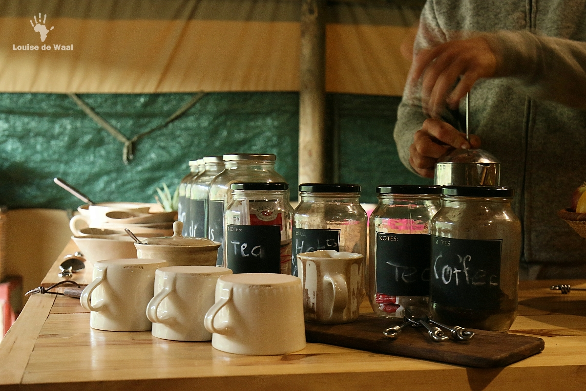 Breakfast at Gondwana Tented Eco Camp, Garden Route