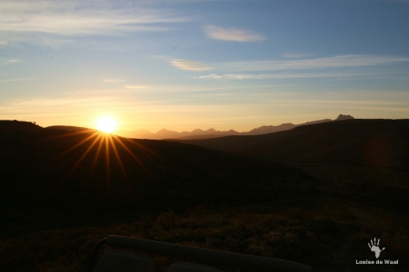 Sunset over Gondwana Game Reserve, Garden Route