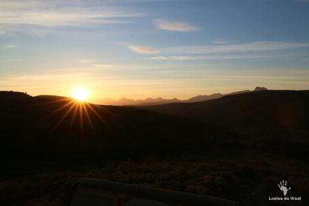 Sunset over Gondwana Game Reserve, Garden Route