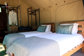 Tent interior Eco Camp Gondwana Game Reserve