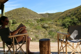 View from front deck Tented Eco Camp, Gondwana Garden Route