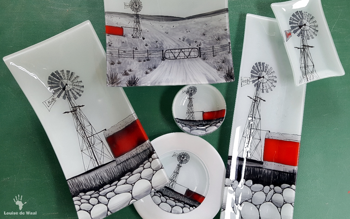 Fanglasstic glass art Karoo Windmill designs Paarl Cape Winelands