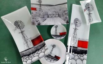 Fanglasstic glass art Karoo Windmill designs Paarl Cape Winelands