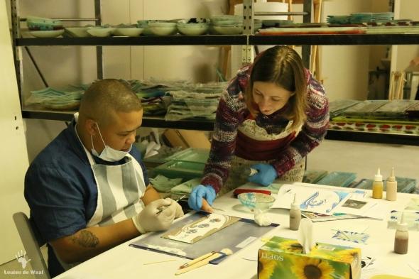 Fanglasstic glass art workshop in Paarl Cape Winelands