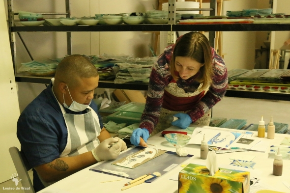 Fanglasstic glass art workshop in Paarl Cape Winelands