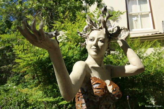 Sculpture by Nanette Ranger for the Digterstuin at Breytenbach Sentrum, Wellington.