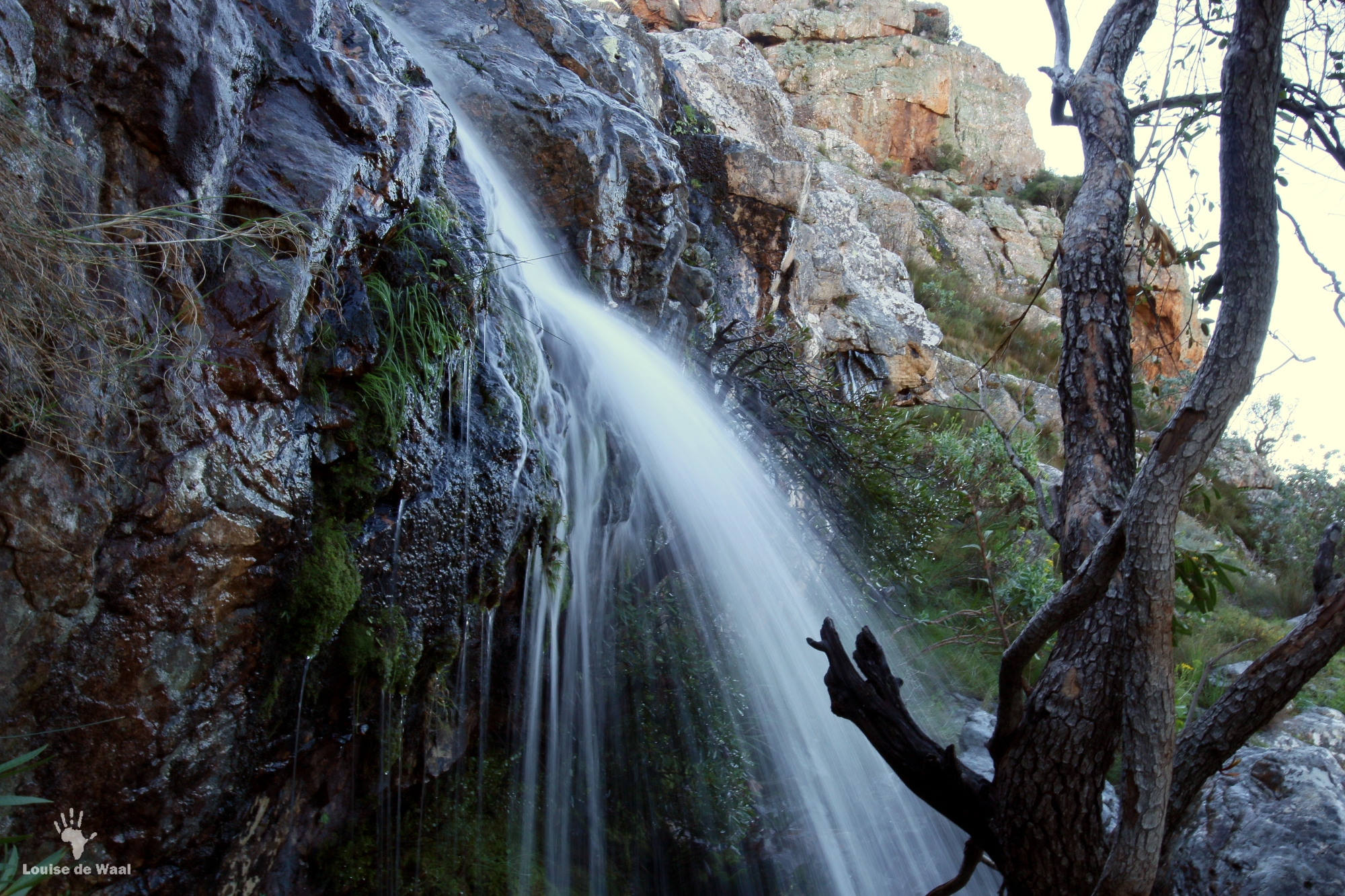 Bastiaanskloof waterfall in full flow after the rains.