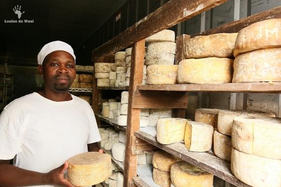 "The ""Fermier"" cheese maker at Kimilili Farm, Tulbagh"
