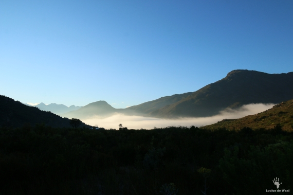 View across Bastiaanskloof Reserve, Limietberg Mountains.