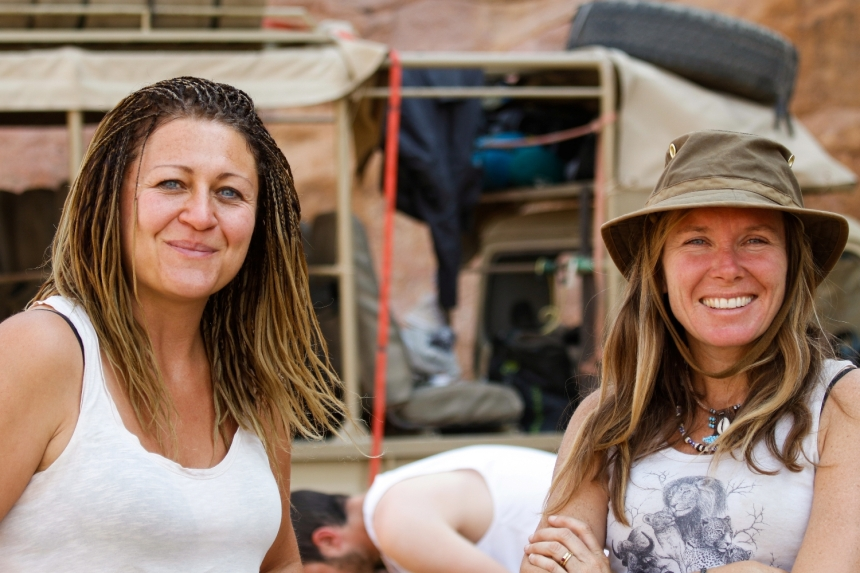 WorkingAbroad: Desert Elephants Project in Namibia with Vicky McNeil on the right. Photo credit: Vicky Kornevall