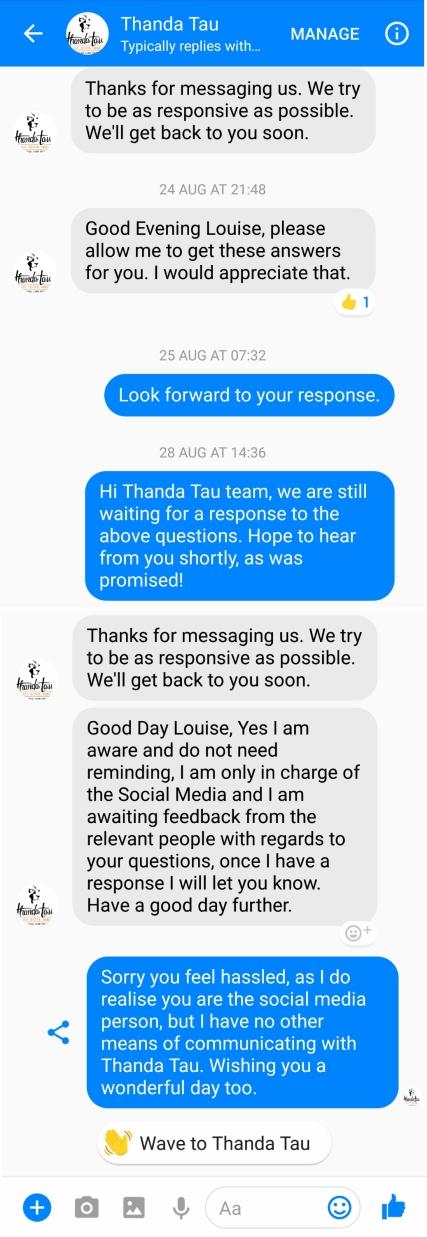 Thanda Tau DM communication 2