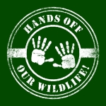 Hands off new on green small