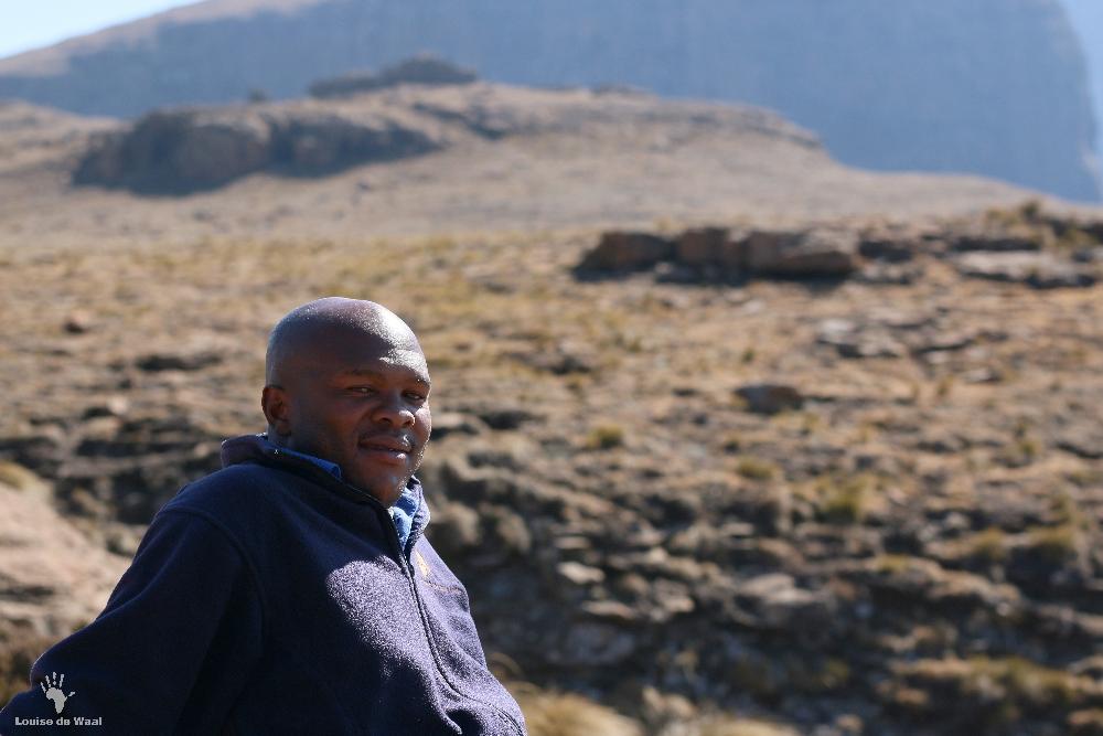 Samson Witsieshoek guide Chain Ladder hike Drakensberg
