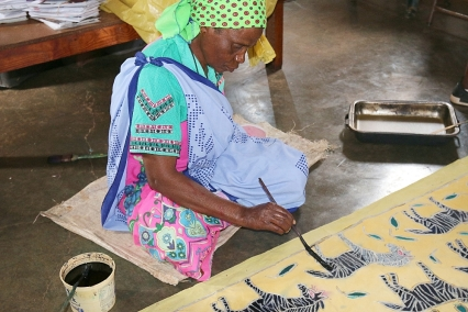 Zebra design by Twananani Textiles, Limpopo