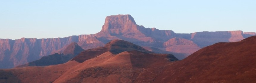 Sentinel Peak from Witsieshoek Lodge Drakensberg