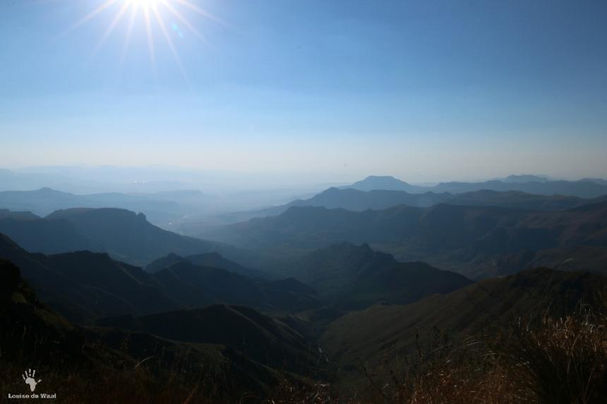 Views towards dam