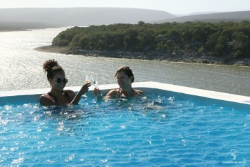 De Hoop Spa pool with a view